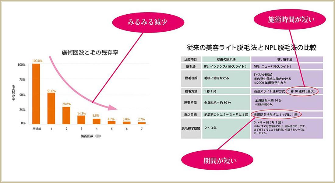 脱毛の特徴(グラフ)